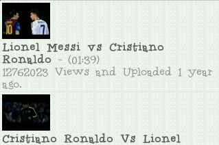 video cr vs messi
